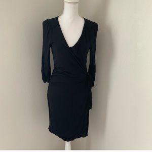 Vanessa Virginia black wrap dress